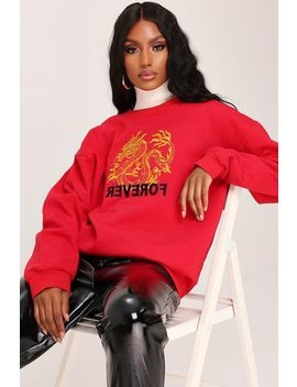 red-dragon-embroidered-oversized-sweatshirt by i-saw-it-first
