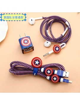 hot-superman-spongebob-totoro-batman-usb-cable-earphone-protector-set-with-cable-winder-stickers-spiral-cord-protector-for-iphone-5-5s-6-6s-plus-7 by wish