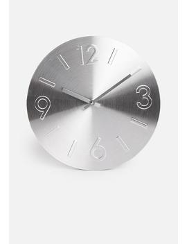 embossed-aluminium-wall-clock---silver by sixth-floor