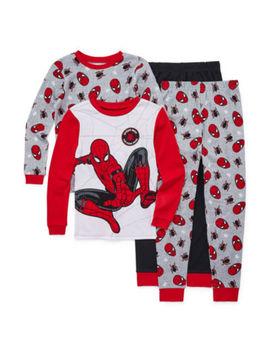 boys-4-pc-spiderman-pajama-set-preschool-_-big-kid by spiderman