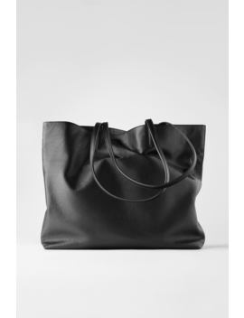 personalisable-leather-tote-bag by zara