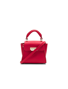 eartha-iconic-mini-top-handle-bag-in-red by zac-zac-posen