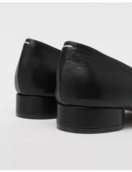 Loafers Aus Leder Mit Vier Nähten by Maison Margiela