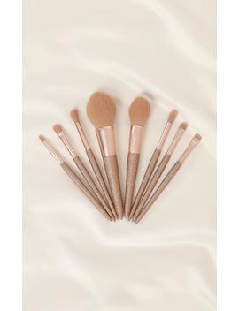 makeup-brush-set-in-champagne---8pc by showpo-fashion