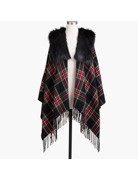 Faux Fur Cape Scarf by J.Crew