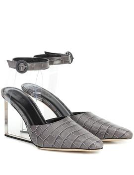 lex-croc-effect-leather-pumps by by-far