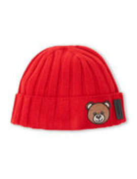 bear-cuffed-beanie by moschino