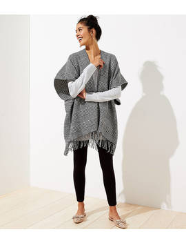 reversible-houndstooth-poncho by loft