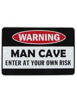 warning-man-cave-funny-embossed-aluminum-sign-us-made-novelty-bar-pub-wall-decor by treasure-gurus