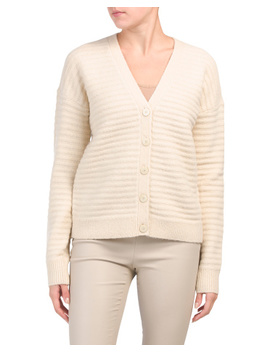 button-front-cardigan by theory