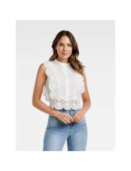 Brohden Broderie Crop Top by Forever New