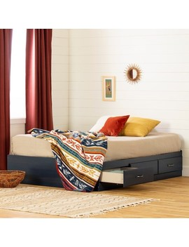 south-shore-asten-full-mates-bed-with-3-drawers---blueberry by south-shore-furniture