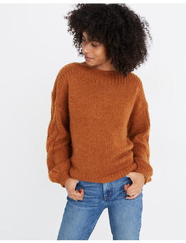 cable-sleeve-boatneck-sweater by madewell