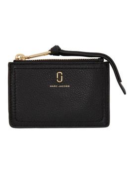 porte-cartes-noir-soft-shot-top-zip-multi by marc-jacobs