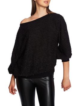 off-shoulder-sparkle-eyelash-sweatshirt by 1state