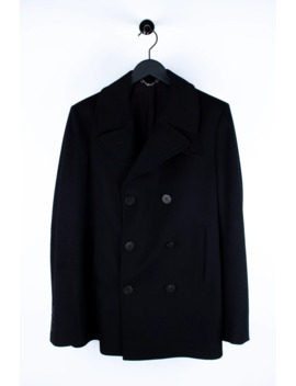 original-gucci-wool-black-men-double-breasted-pea-coat-in-size-52r by gucci  ×