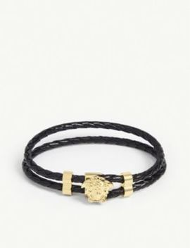 leather-wrap-bracelet by versace