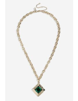 **chunky-chain-pendant-necklace by topshop