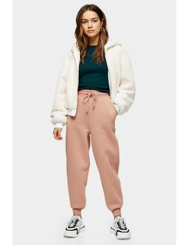 petite-pink-oversized-joggers by topshop