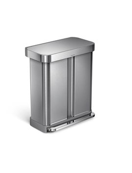 Rectangular Step Can                         With Liner Pocket by Simplehuman