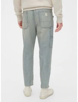 '80s Worker Stripe Relaxed Taper Jeans by Gap