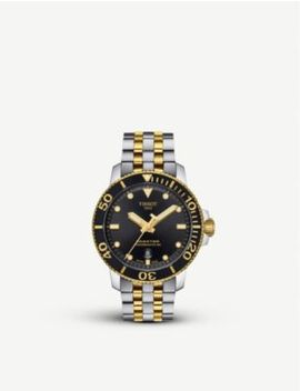 t1204072205100-seastar-1000-stainless-steel-and-yellow-gold-pvd-watch by tissot