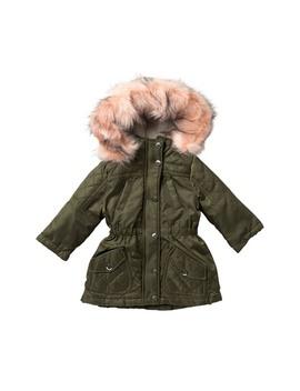 twill-anorack-with-faux-fur-collar-trim-(baby-girls) by urban-republic