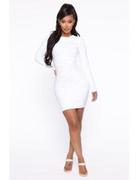 magnetic-love-bandage-mini-dress---white by fashion-nova