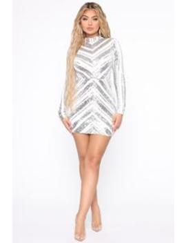 sparkle-away-sequin-mini-dress---white_silver by fashion-nova