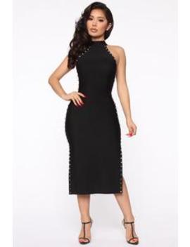 cant-get-enough-bandage-midi-dress---black by fashion-nova