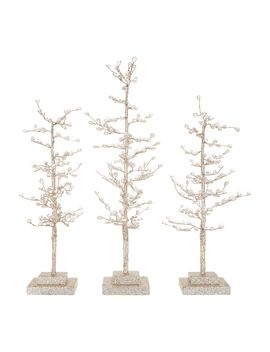 Set Of 3 Sparkling Diamond Ice Trees By Valerie by The Valerie Parr Hill Collection