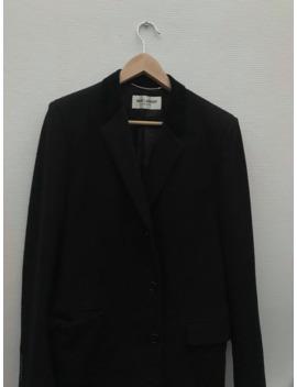 fw13-velvet-collar-chesterfield-coat by saint-laurent-paris  ×  hedi-slimane  ×