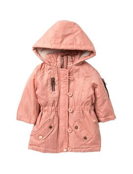 faux-fur-trimmed-anorak-jacket-(baby-girls) by urban-republic