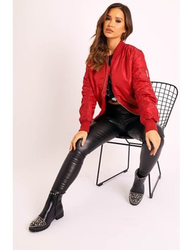 dark-red-padded-bomber-jacket---chelsy by rebellious-fashion