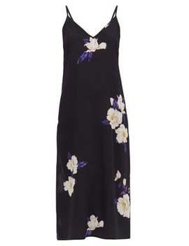 deep-v-neck-floral-print-silk-dress by raey