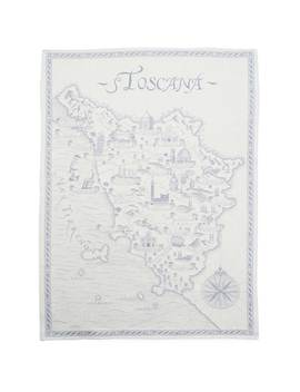"""Toscana Blue Jacquard Kitchen Towel, 30"""" X 20"""" by Sur La Table"""