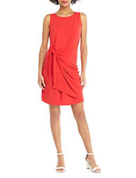 Petite Sleeveless Sarong Tie Dress by The Limited