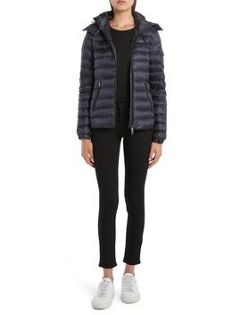 bleu-hooded-lightweight-down-jacket by moncler