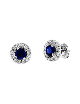 suzy-levian-14k-093-ct-tw-diamond-&-sapphire-studs by suzy-levian-diamonds