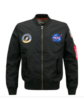 us-mens-embroidered-nasa-jacket-military-army-flight-bomber-jacket by unbranded