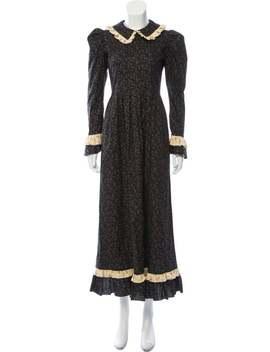 colorblock-pattern-long-dress by batsheva