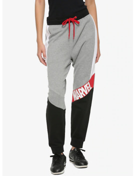 our-universe-marvel-logo-jogger-pants by her-universe