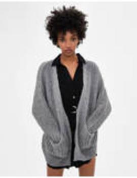 oversize-knit-cardigan by bershka