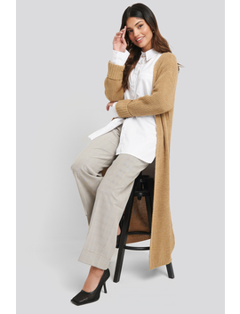 turn-up-cuff-open-front-cardigan-beige by na-kd