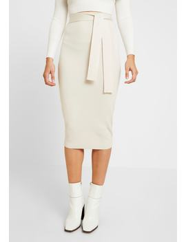 tie-waist-midi-skirt---jupe-crayon by missguided