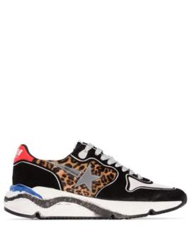 running-leopard-print-panel-sneakers by golden-goose
