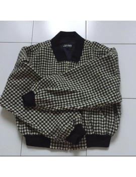 80s-archive-houndstooth-check-bomber-jacket by jean-paul-gaultier  ×