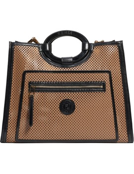 medium-runaway-perforated-leather-shopper by fendi