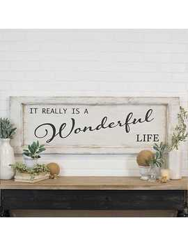 New! Black And White Antique Wonderful Life Wall Plaque by Kirkland's