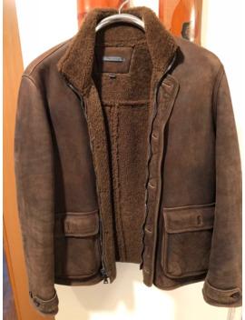 john-varvatos-brown-shearling-coat by john-varvatos  ×